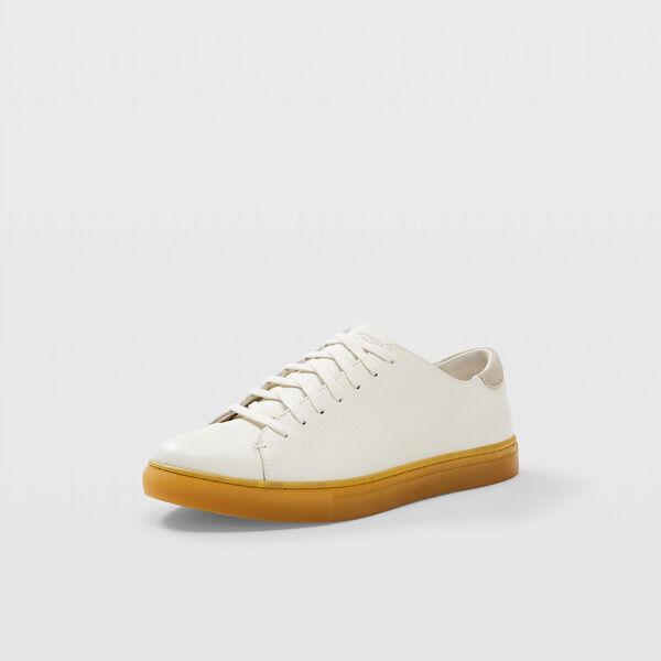 Club Monaco White Club Monaco Gum Sole Sneaker in Size 9 [Male]