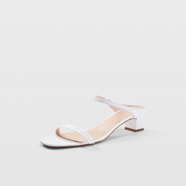 Club Monaco White Marnee Sandals in Size 36.5 [Female]