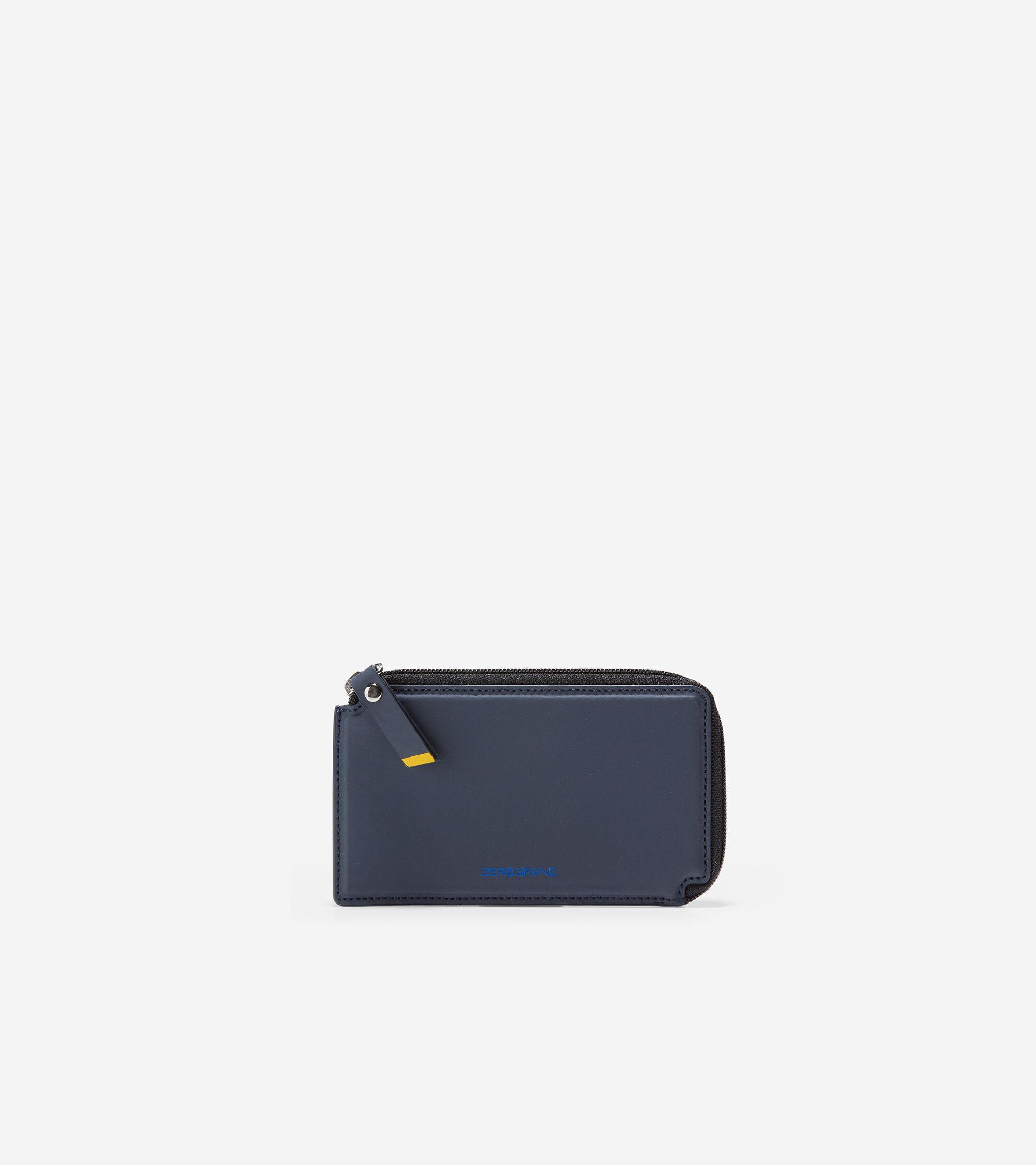 Cole Haan Half Zip Credit Card Case - BLUE - Size: OSFA
