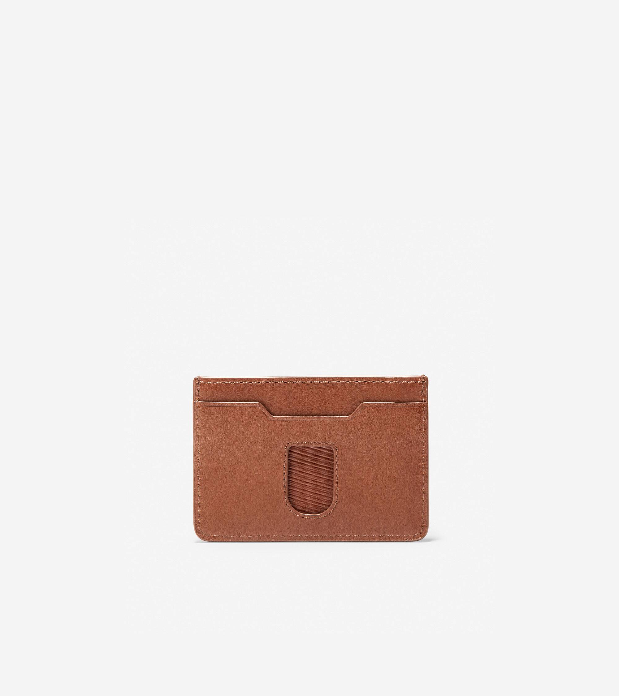 Cole Haan GRANDSERIES Leather Card Case - Brown - Size: OSFA