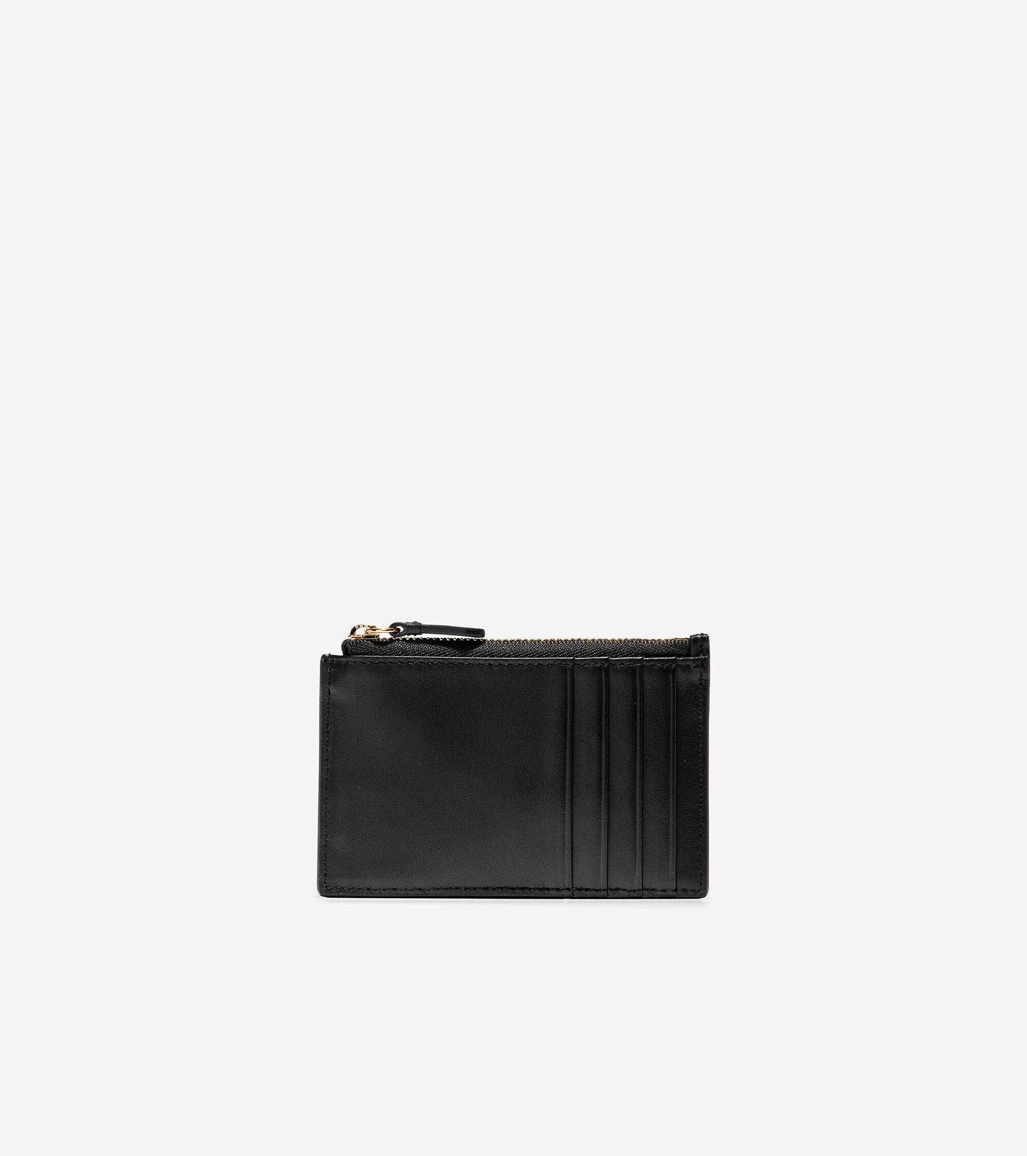 Cole Haan GRANDSERIES Card Case with Zip - BLACK - Size: OSFA