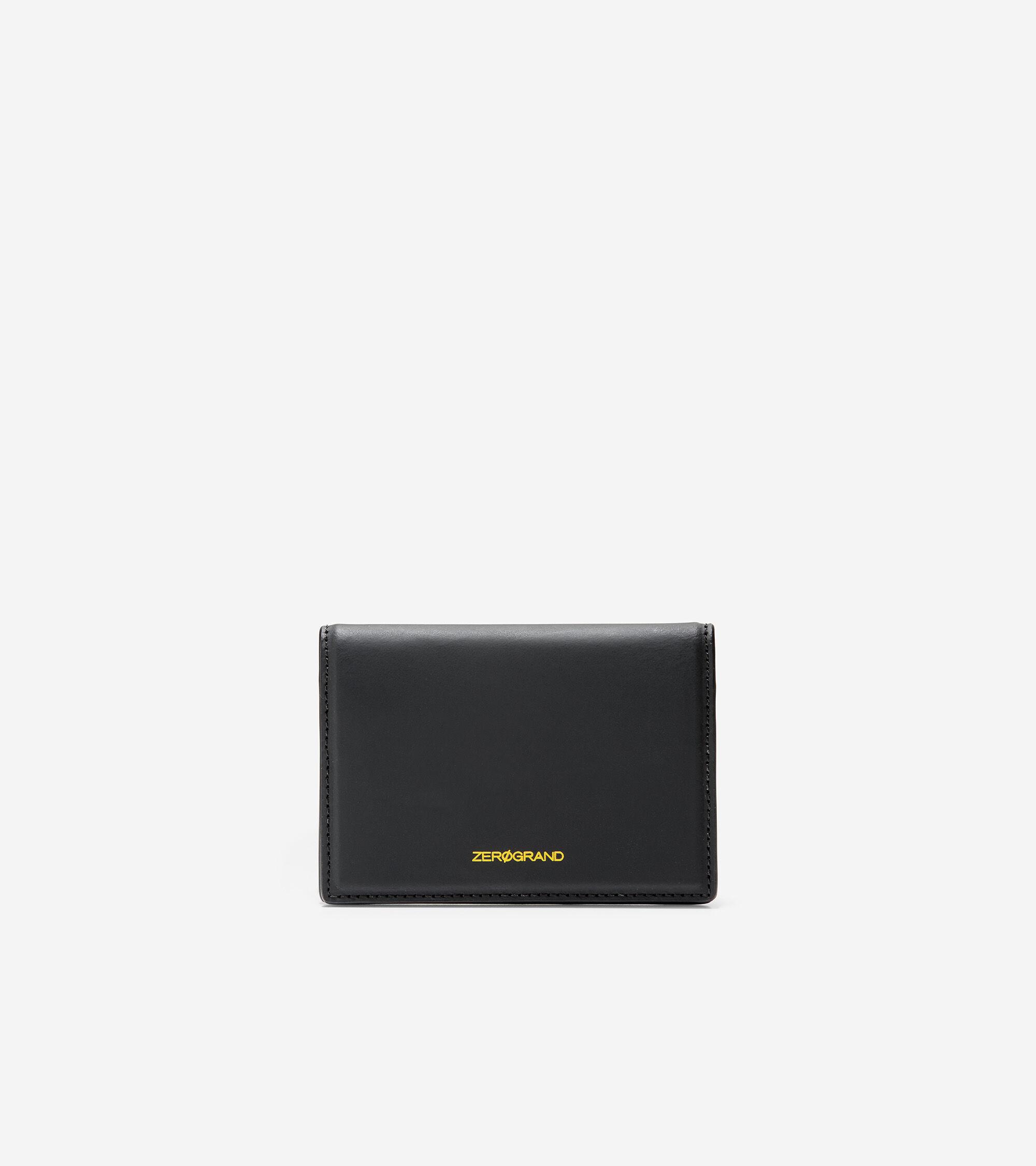 Cole Haan Folded Card Case - BLACK - Size: OSFA