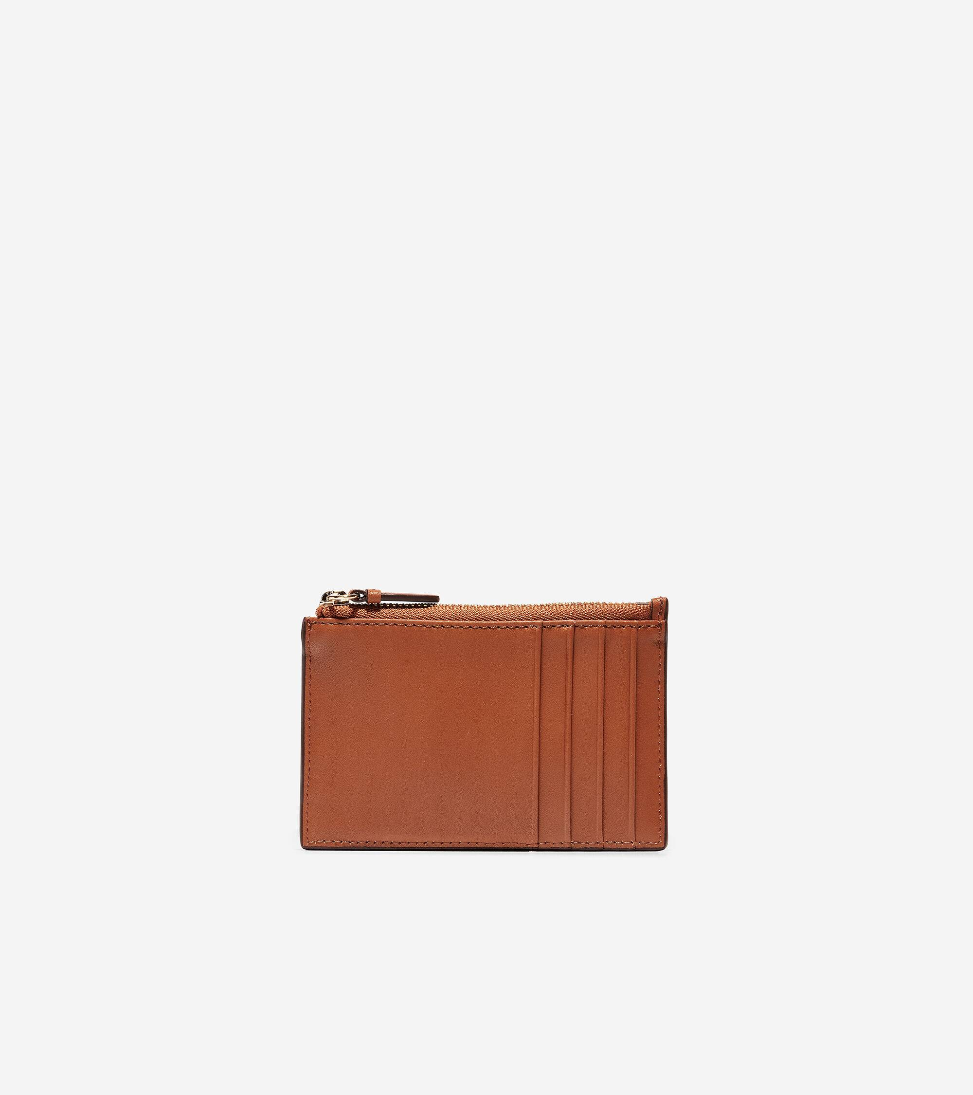 Cole Haan GRANDSERIES Card Case with Zip - BROWN - Size: OSFA