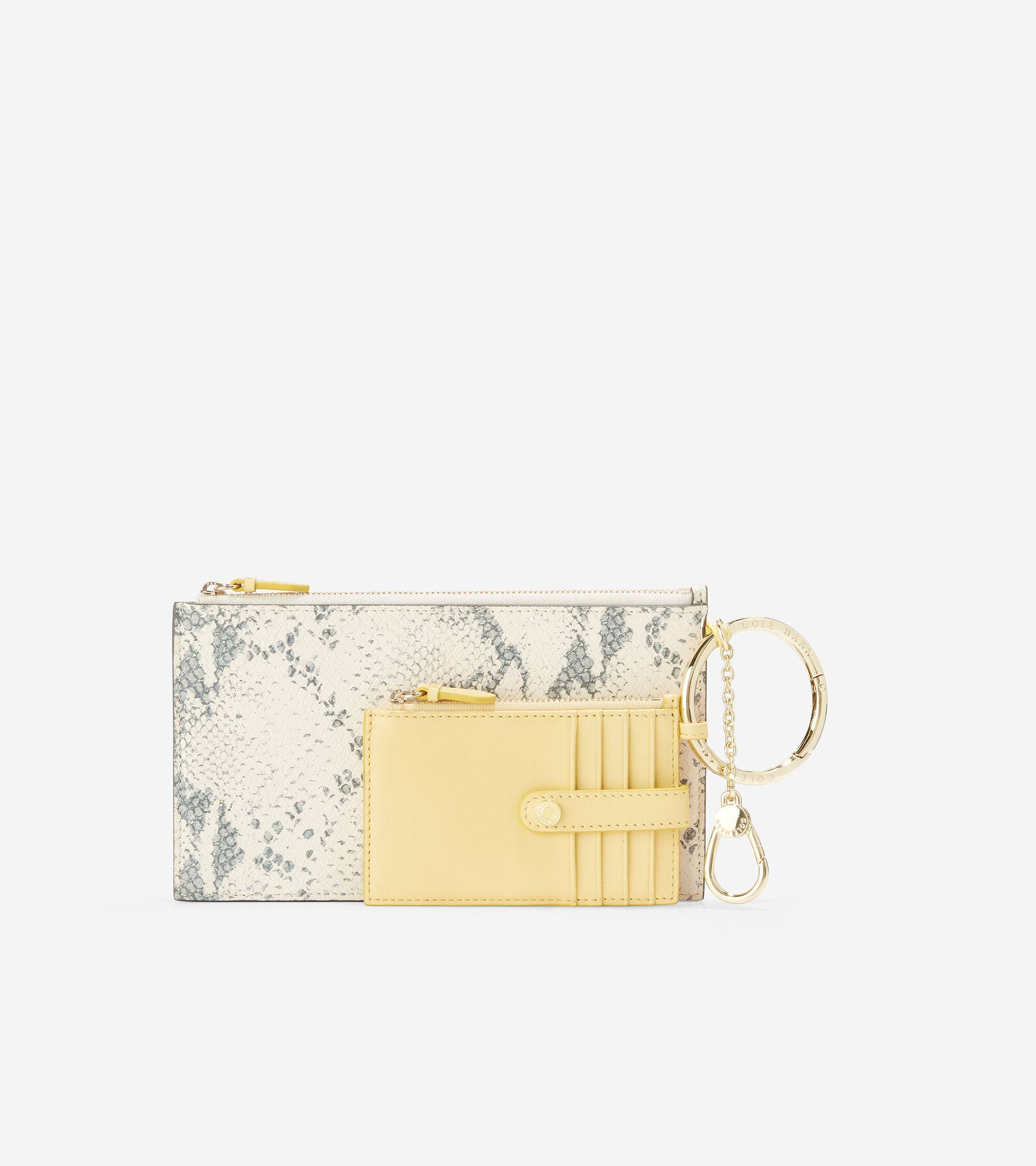 Cole Haan Card Case Duo - LIGHT YELLOW - Size: OSFA