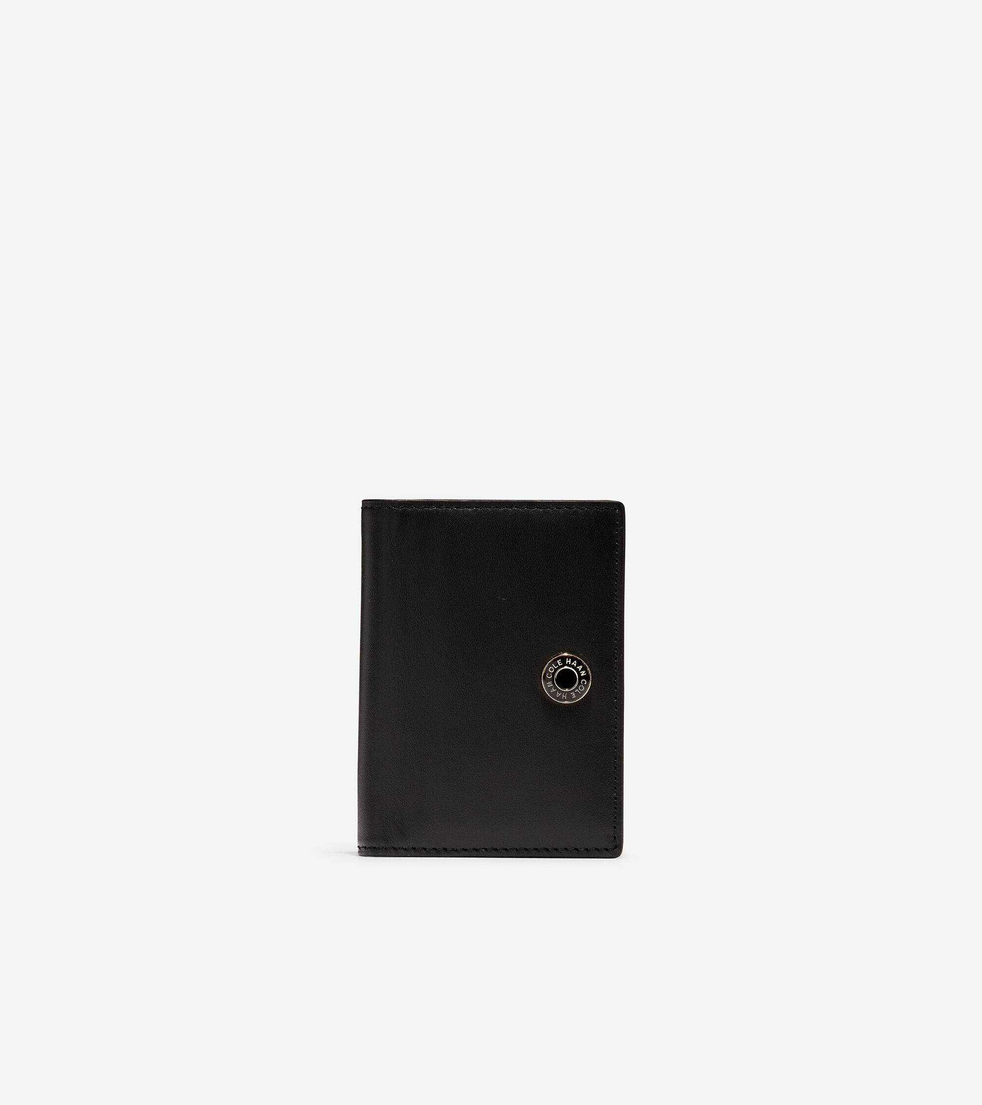Cole Haan GRANDSERIES Card Case - BLACK - Size: OSFA