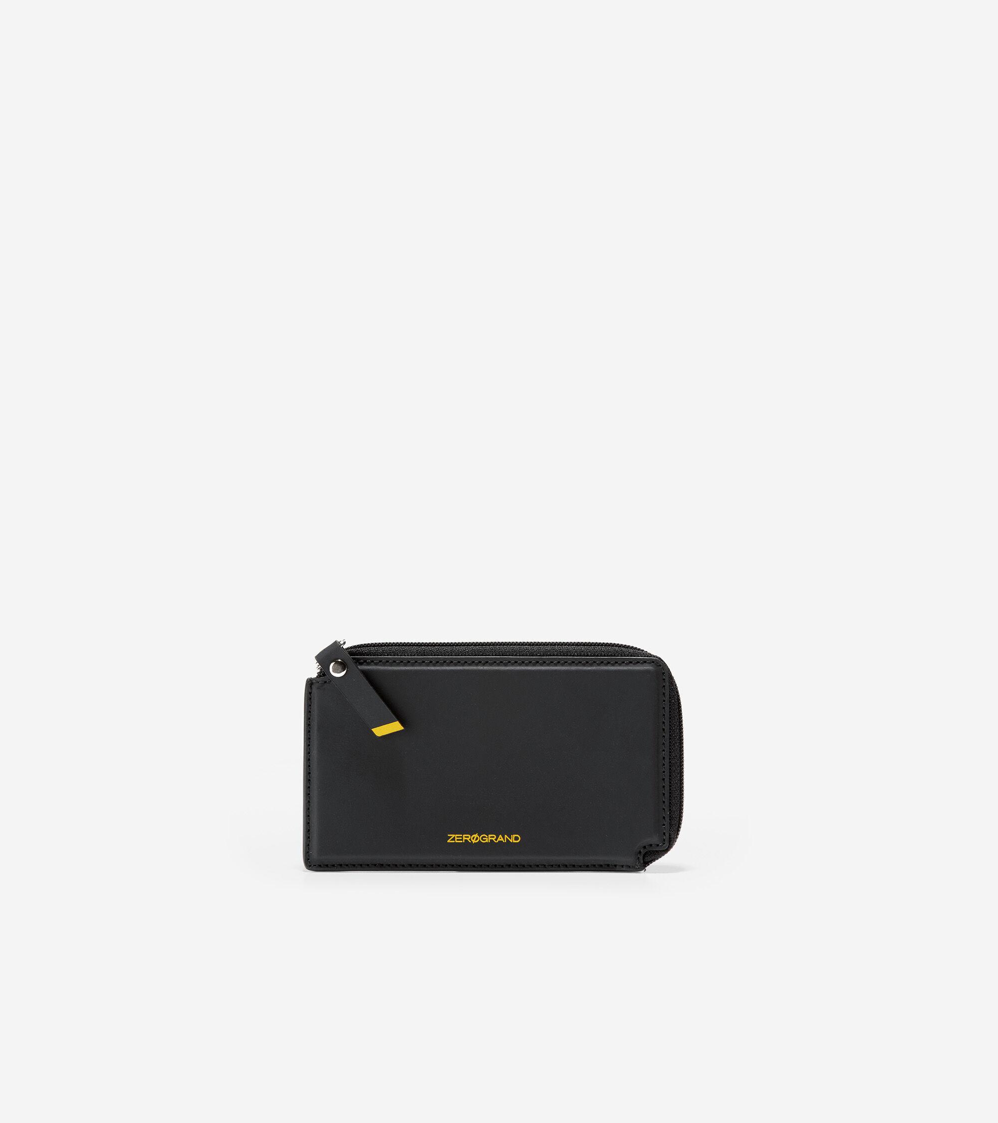 Cole Haan Half Zip Credit Card Case - BLACK - Size: OSFA