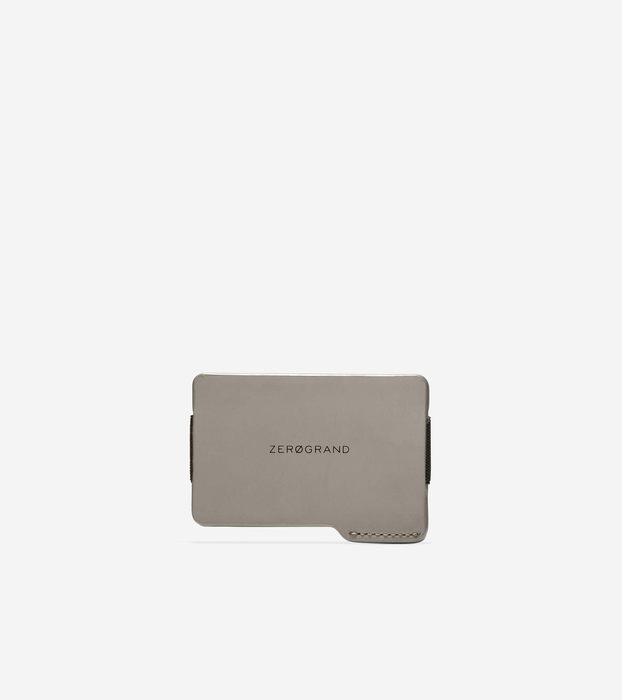 Cole Haan ZERØGRAND Rubberized Leather Card Case - GRAY - Size: OSFA