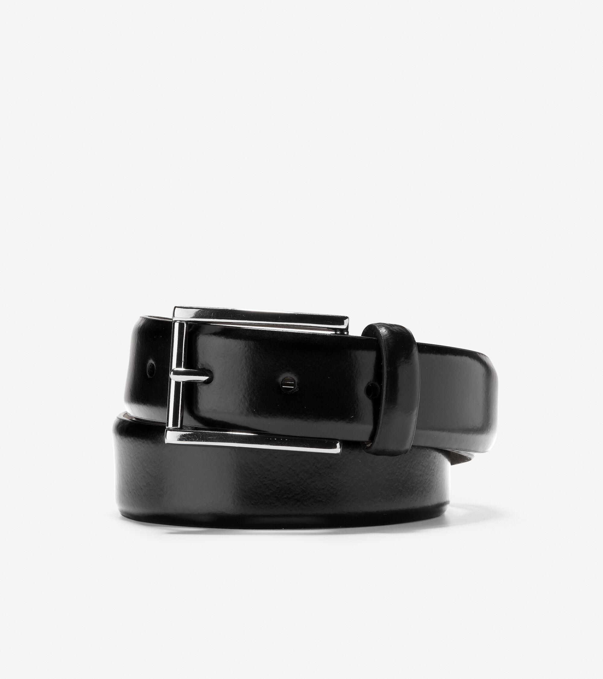 Cole Haan Warner 32mm Dress Belt - Black - Size: 38