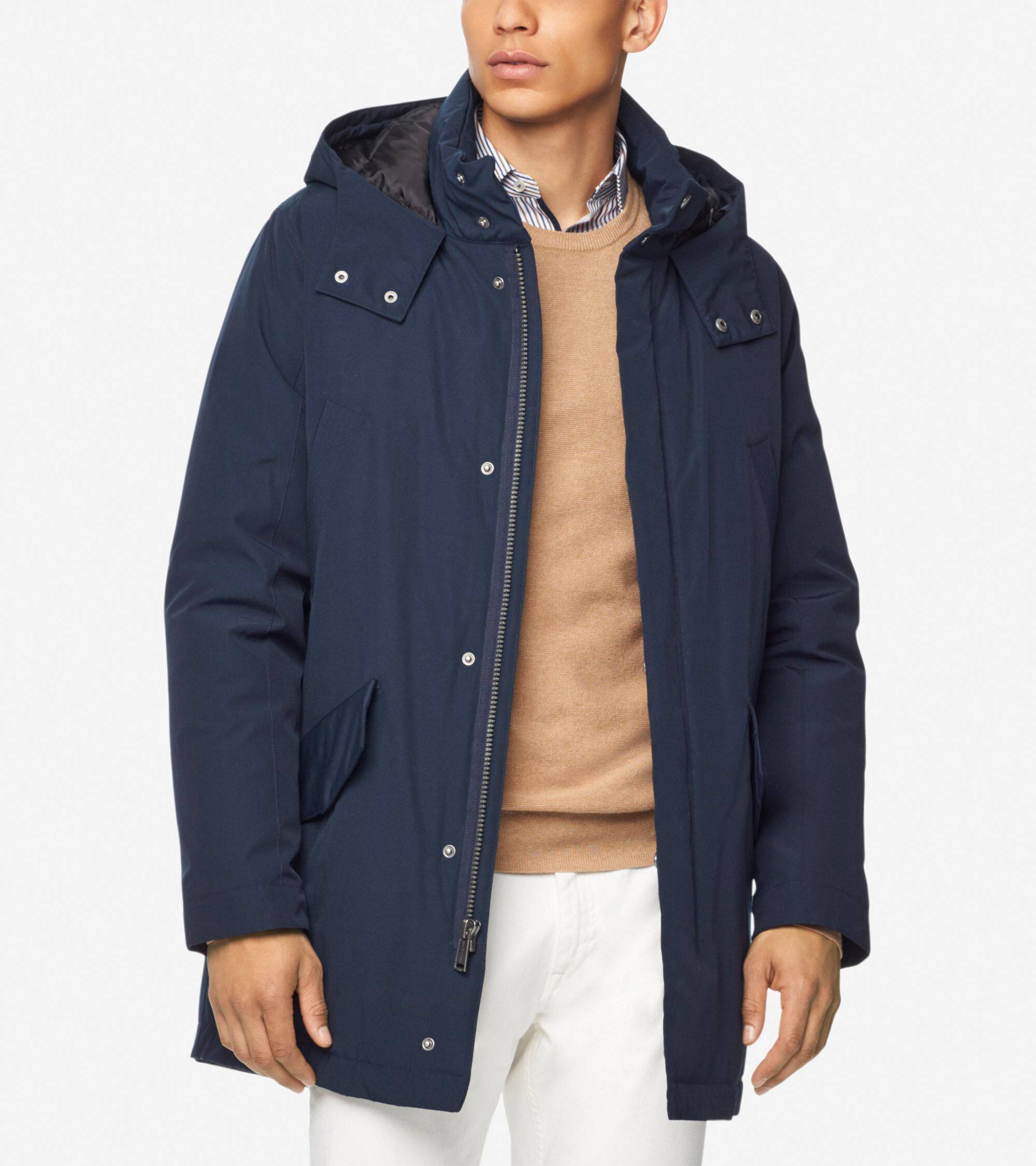 Cole Haan Down Anorak - Navy - Size: L