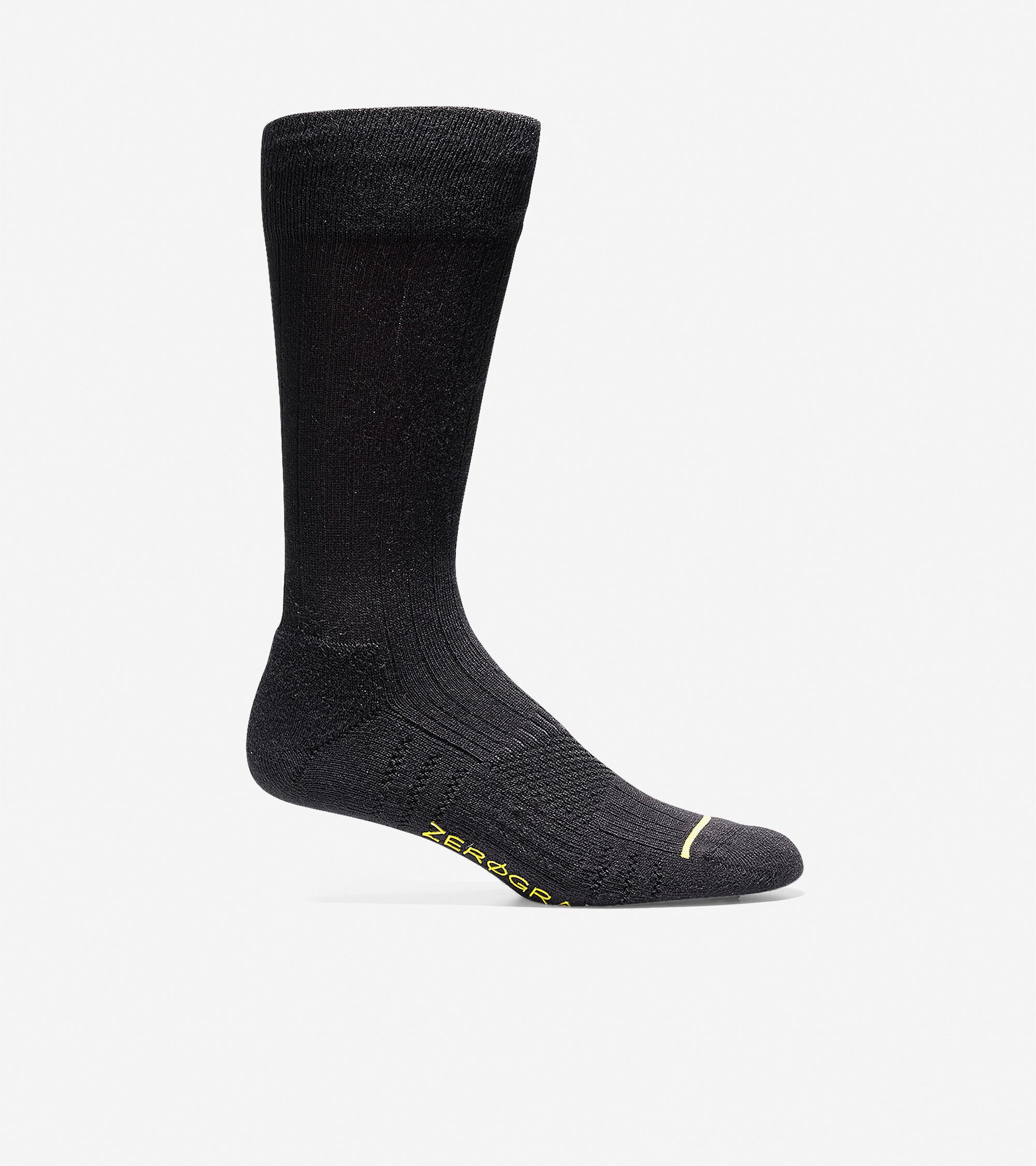 Cole Haan ZERØGRAND Rib Crew Socks - Black - Size: OSFA