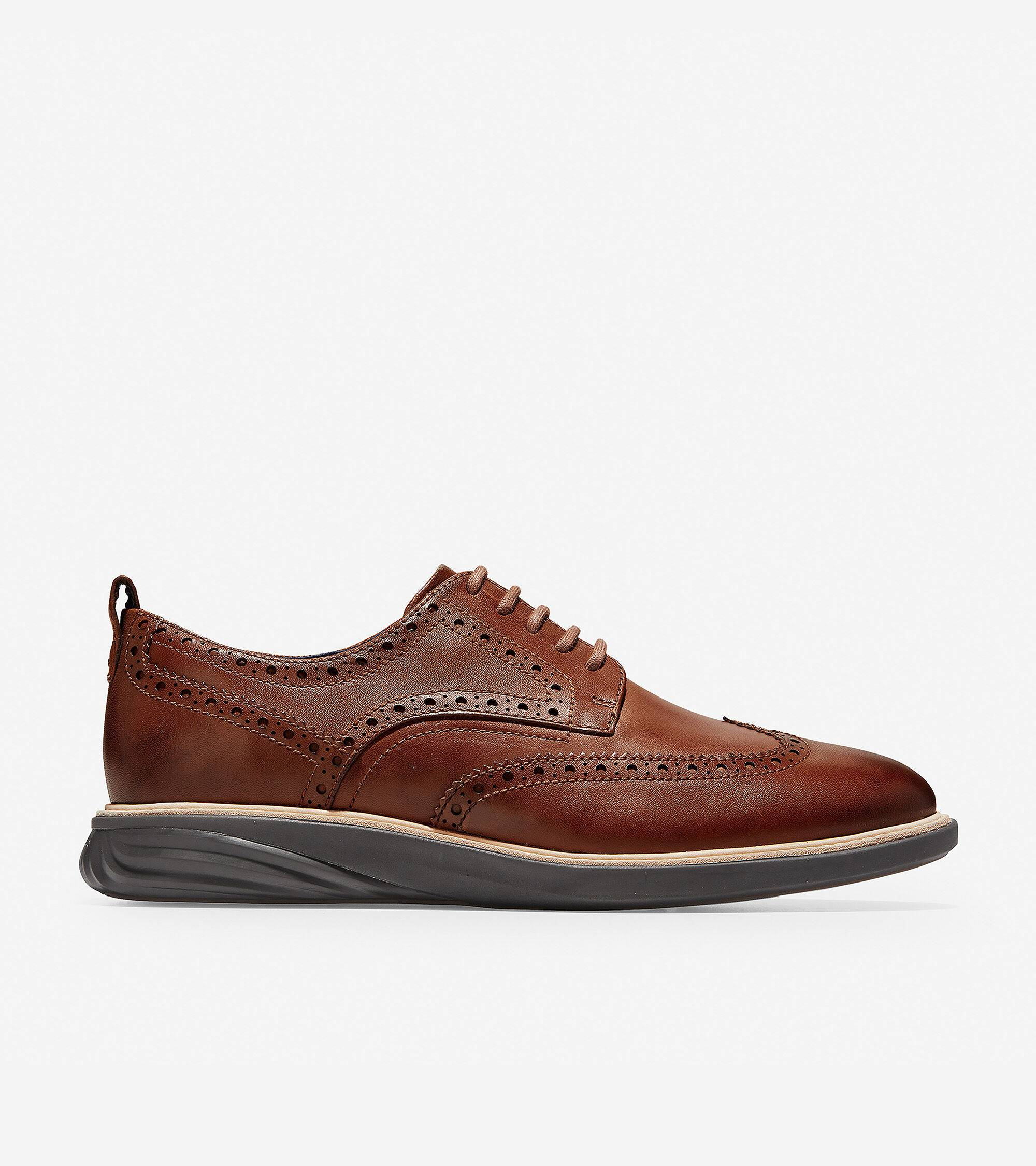 Cole Haan Grand Evolution Wingtip Oxford - Brown - Size: 10