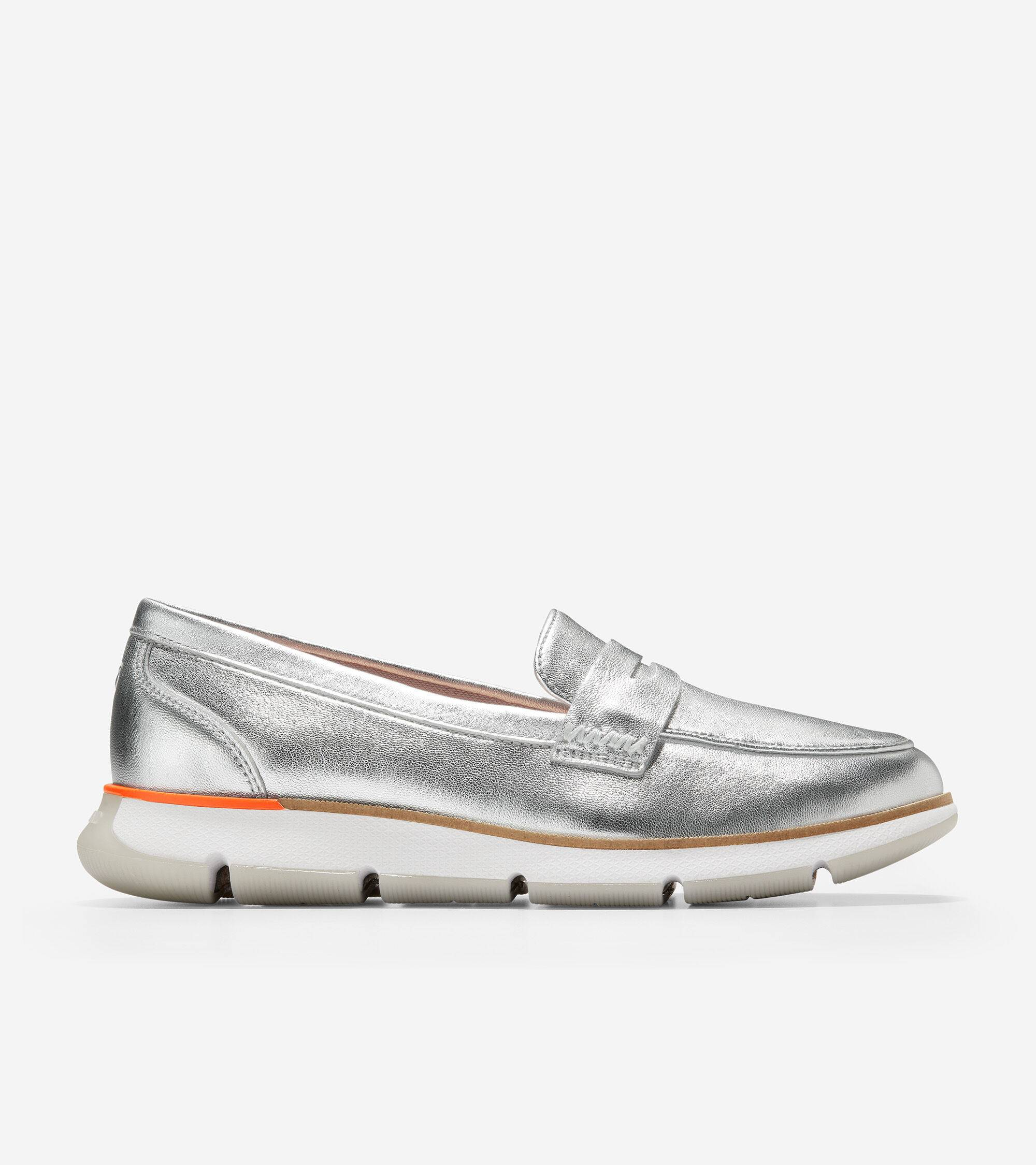 Cole Haan 4.ZERØGRAND Loafer - SILVER - Size: 6