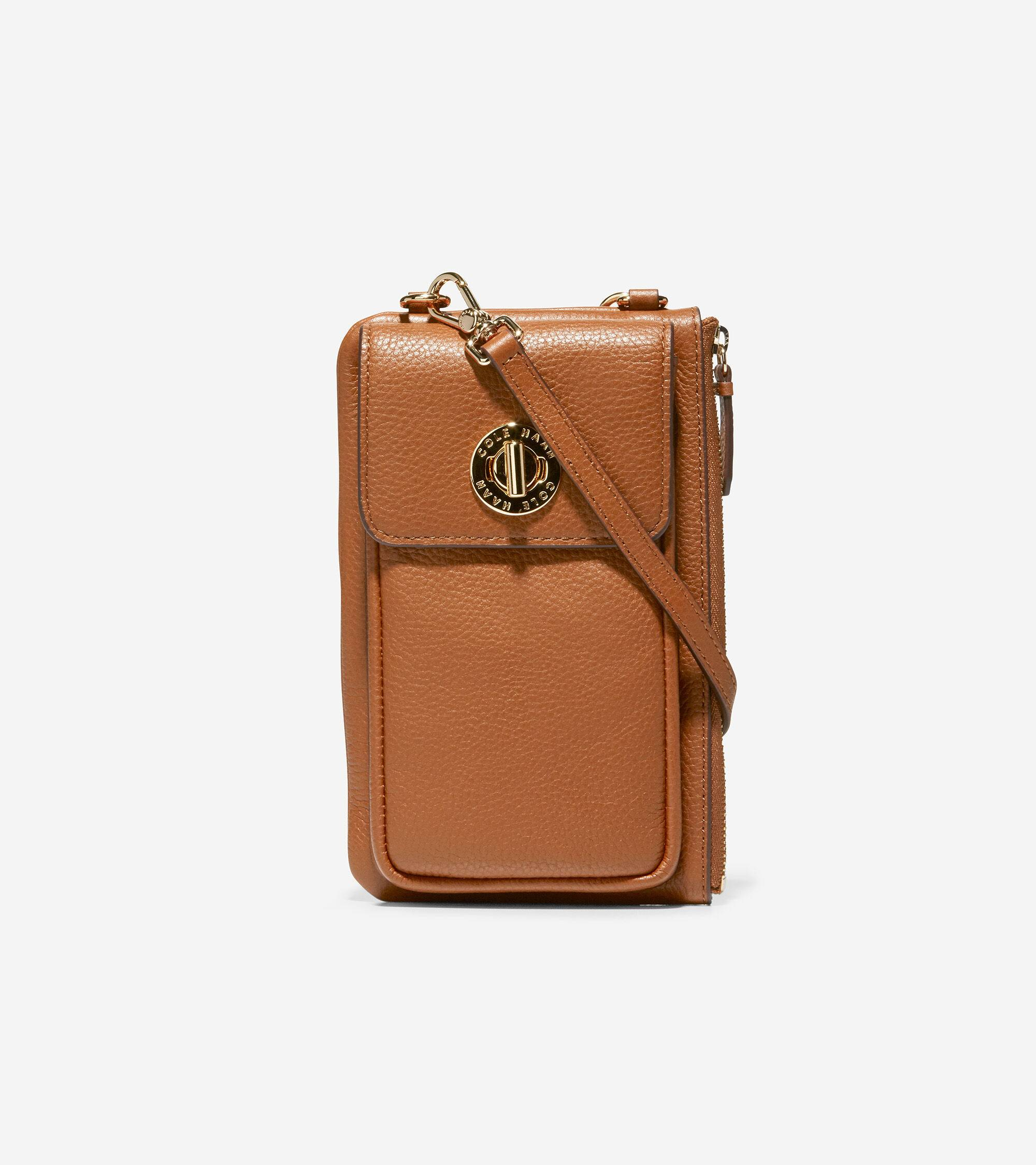 Cole Haan Turnlock Cell Phone Crossbody - BROWN - Size: OSFA