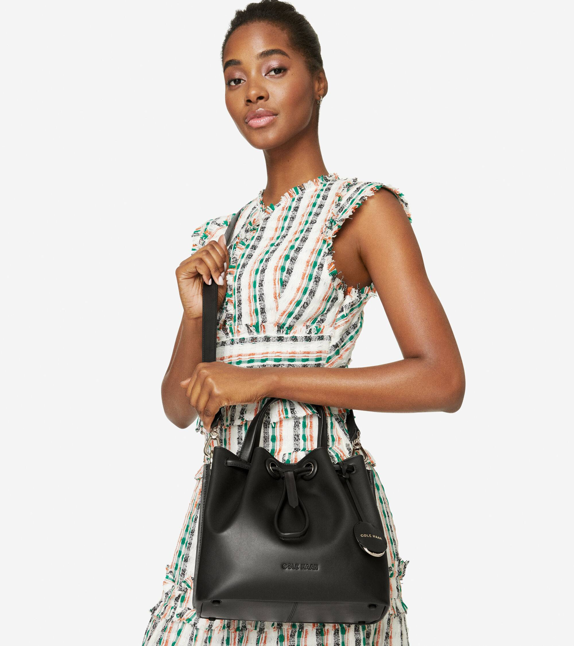 Cole Haan Small Bucket Bag - BLACK - Size: OSFA