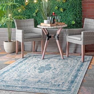 Rugs USA Beige Sherry Vintage Medallion Indoor/Outdoor rug - Outdoor Rectangle 8' x 10'