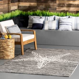 Rugs USA Gray Hacienda Starfish Indoor/Outdoor rug - Coastal Rectangle 9' x 12'