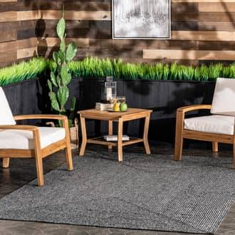 Rugs USA Charcoal Jubilee Solid Braided Indoor/Outdoor rug - Casuals Rectangle 6' x 9'