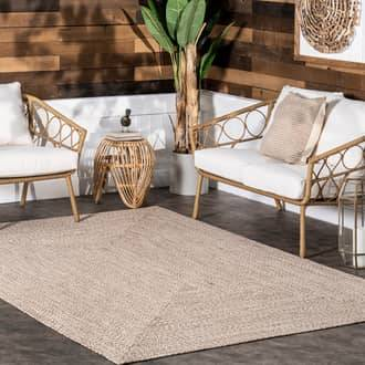 Rugs USA Tan Jubilee Solid Braided Indoor/Outdoor rug - Casuals Rectangle 12' x 18'