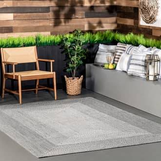 Rugs USA Light Gray Jubilee Braided Gradience Indoor/Outdoor rug - Casuals Rectangle 5' x 8'