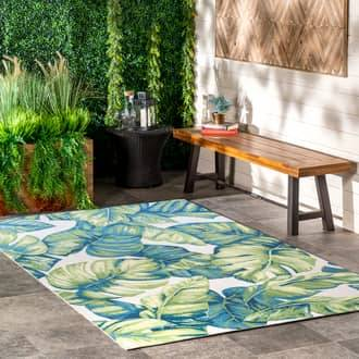 Rugs USA Multi Leilani Tropical Foliage Indoor/Outdoor rug - Contemporary Rectangle 12' x 15'