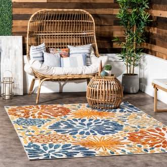 Solaris Rugs USA Multi Solaris Floral Fireworks Indoor/Outdoor rug - Bohemian Oval 6' x 9'