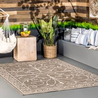 Rugs USA Beige Aperto Indoor/Outdoor Krem rug - Outdoor Runner 2' x 8'