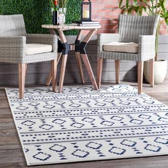 """Rugs USA Light Gray Solaria Droplet Striped Indoor/Outdoor rug - Contemporary Rectangle 6' 7"""" x 9'"""
