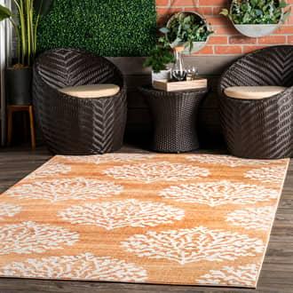 Rugs USA Rust Grand Garden Timber Trellis Indoor/Outdoor rug - Contemporary Rectangle 4' x 6'