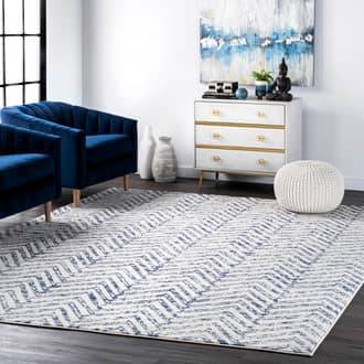 "Rugs USA Blue Bosphorus Reverse Herringbone rug - Casuals Oval 6' 7"" x 9'"