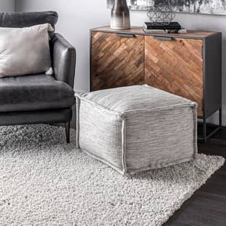 "Rugs USA Gray Poufs Flatwoven Solid Indoor/Outdoor Pouf furniture - Casuals 14"" H x 20"" W x 20"" D"