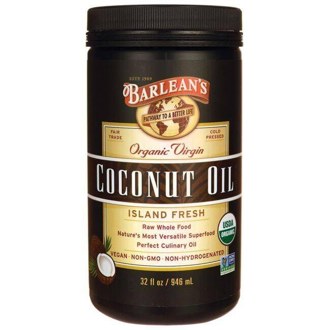 Barlean's Organic Virgin Coconut Oil 32 fl oz Solid Oil Essential Fatty Acids