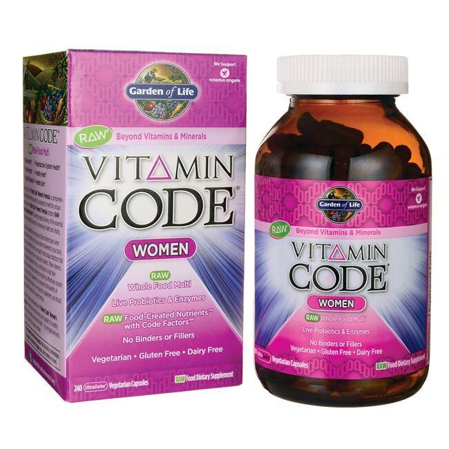 Garden of Life Vitamin Code Women 240 Veg Caps Multivitamins