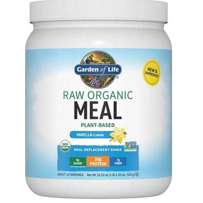 Garden of Life Raw Organic Meal Shake & Replacement - Vanilla 17.1 oz Powder Weight Loss
