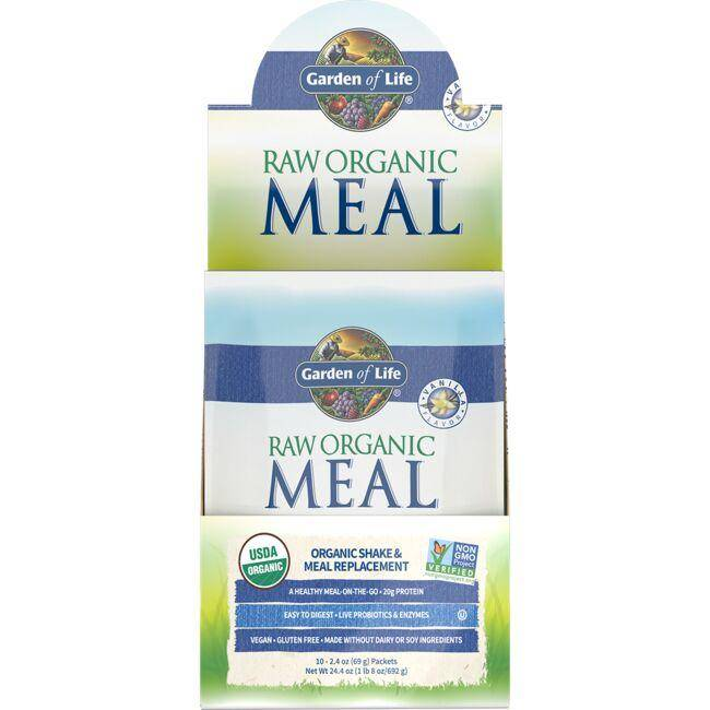 Garden of Life Raw Organic Meal Shake & Replacement - Vanilla 10 Packets Weight Loss