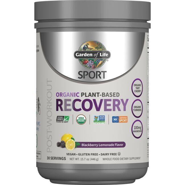 Garden of Life Sport Organic Plant-Based Recovery - Blackberry Lemonade 15.7 oz Powder