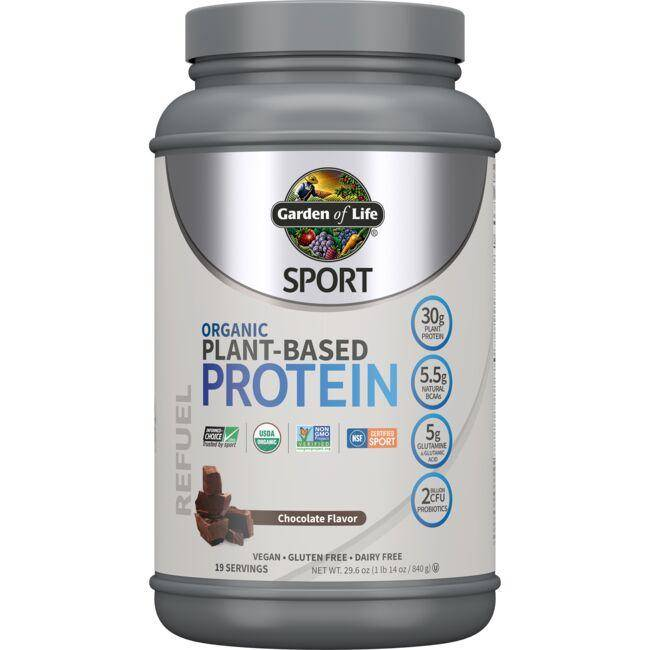 Garden of Life Sport Organic Plant-Based Protein - Chocolate 29.6 oz Powder