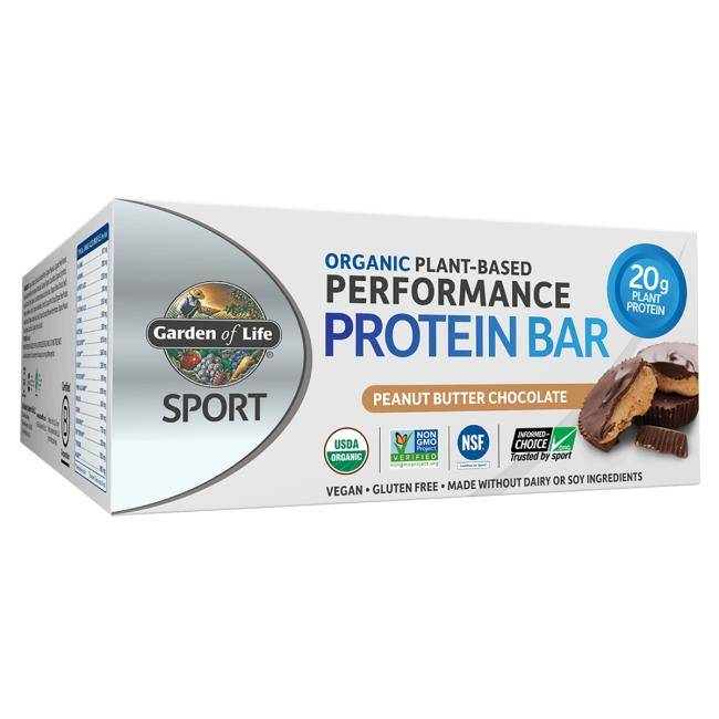 Garden of Life Sport Organic Plant-Based Protein Bars - Peanut Butter Chocolate 12 Bars