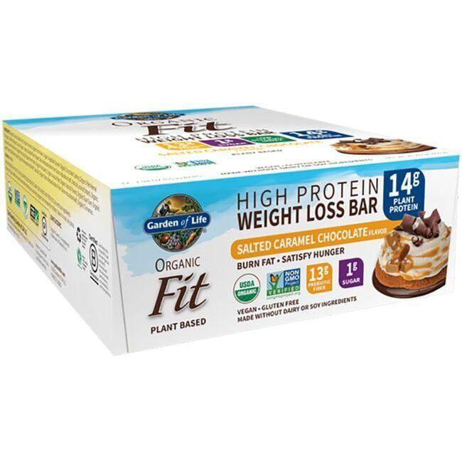 Garden of Life Organic Fit Protein Bars - Sea Salt Caramel 12 Bars