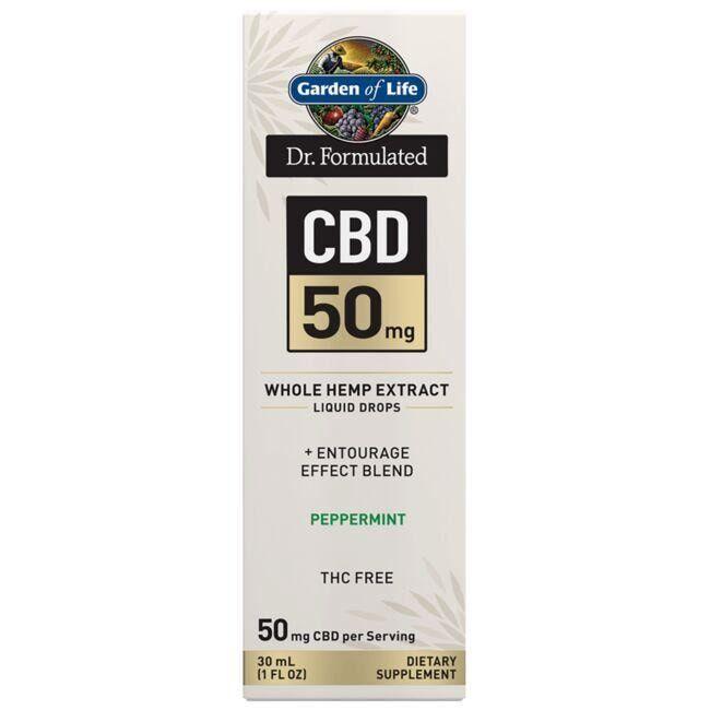 Garden of Life Dr. Formulated Cbd - Peppermint 50 mg 1 fl oz Liquid
