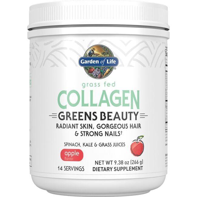 Garden of Life Grass Fed Collagen Greens Beauty - Apple 9.38 oz Powder