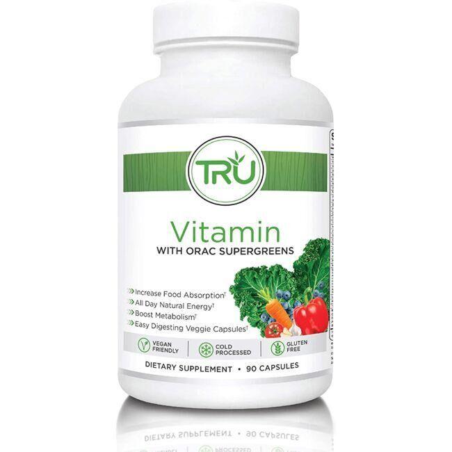 High Performance Nutrition Tru Vitamin with Orac Supergreens 90 Caps Vitamin C Multivitamins