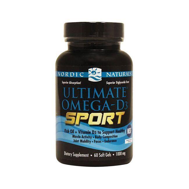Nordic Naturals Ultimate Omega-D3 Sport 1000 mg 60 Soft Gels Energy