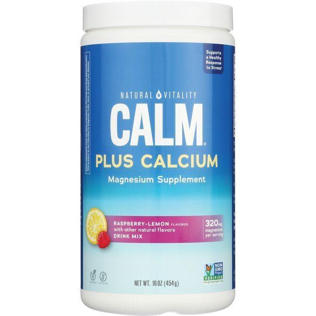 Natural Vitality Calm Plus Calcium - Raspberry-Lemon 16 oz Powder Bone Health