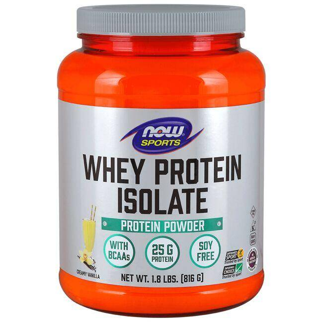 NOW Foods Whey Protein Isolate - Natural Vanilla 1.8 lbs Powder
