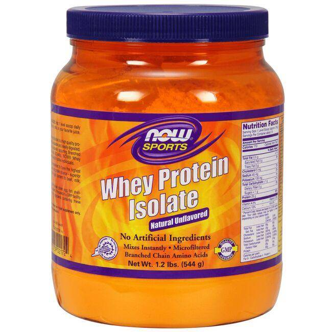 NOW Foods Whey Protein Isolate - Natural Unflavored 1.2 lbs Powder