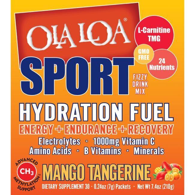 Ola Loa Sport Hydration Fuel - Mango Tangerine 30 Packets Energy