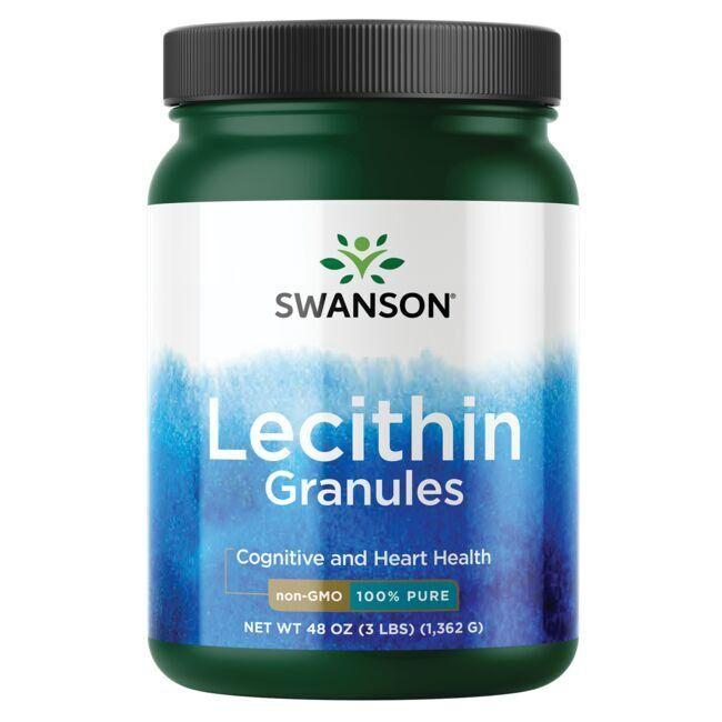 Swanson Premium Lecithin Granules - Non-Gmo 100% Pure 48 oz Granules Liver Health