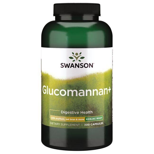 Swanson Best Weight-Control Formulas Glucomannan+ - Konjac Root 300 Caps Digestive Health and Fiber