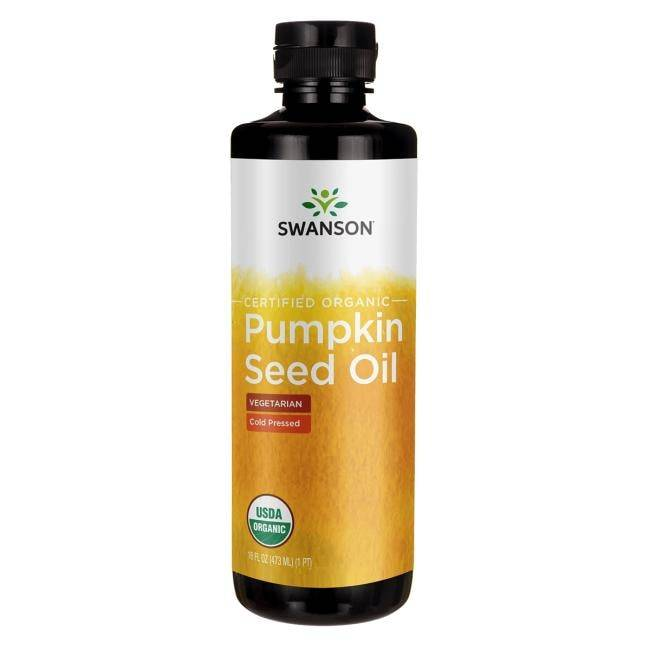 Swanson Organic Certified Pumpkin Seed Oil - Cold Pressed 16 fl oz Liquid Essential Fatty Acids