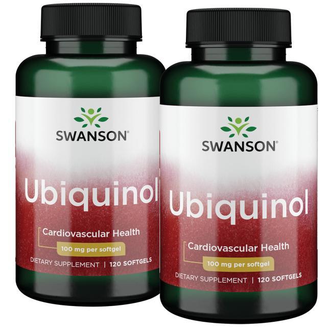Swanson Ultra Ubiquinol - 2 Pack 100 mg 120 Soft Gels Per Bottle Heart Health